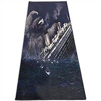Sloth Sinking Large Ship Blue ヨガマット 4.5mm エクササイズマット フィットネスマット トレーニングマット 軽量 耐久性 肌に優しい 両面の滑り止 屋内運動 ピラティスマット持ち運び 収納簡単 実用的 ユニセックス