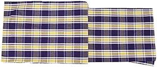単衣 着物 木綿着物(TLサイズ 伊勢木綿/紫 黄 茶色 チェック柄 15639)単品 トールサイズ 居敷当て 綿100%