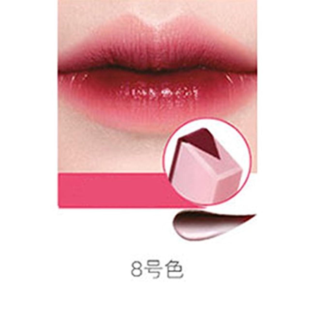 ゴミ影のある容器RaiFu リップスティック ペンシル リップバー 女性 ファッション グラデーションカラー マット メイクアップ フルーツ スモークツートーン ティント 08#チェリーミルク