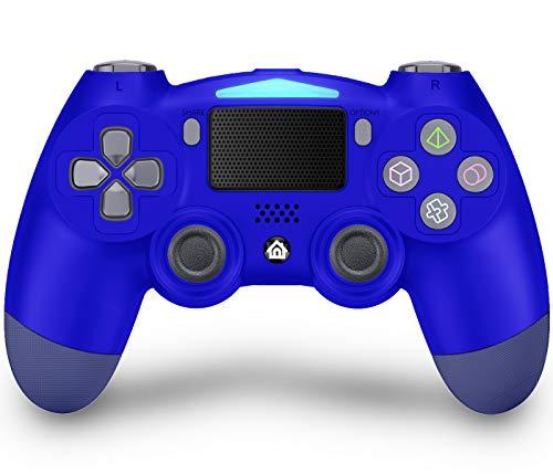 Maegoo Mando Inalámbrico para PS4, Mandos PS4 Gamepad Joystick para Playstation 4/PS4 Slim/Pro, Bluetooth Mando de Juegos con Dual Vibración, Somatosensorial de 6 Ejes, Panel Táctil, Audio