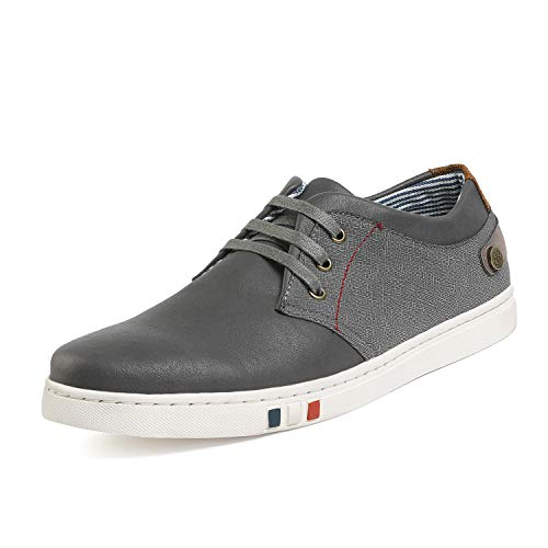 Bruno Marc Men's NY-03 Grey Fashion Oxfords Sneakers Size 10 M US