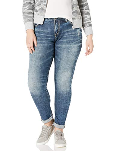 Silver Jeans Co. Women's Plus Size Kenni Mid Rise Skinny Leg Jean -$49.99(50% Off)