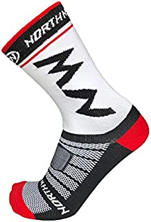 YBAA New Cycling Socks Bike Socks Breathable Bicycle Socks Outdoor Sports Men Socks (Color : White)