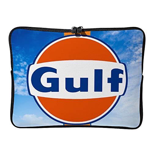 Normal Gulf Racing Laptoptaschen Stilvoll Wasserdicht - Gulf Racing Tablet-Tasche Geeignet für Geschäftsreise White 17 Zoll