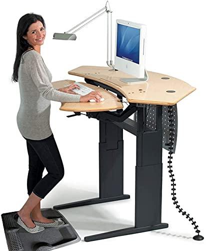 ergohead not-flat Mat Anti Fatiga–alfombrilla de escritorio de pie para soporte de hasta escritorios, ergonómicamente diseñado