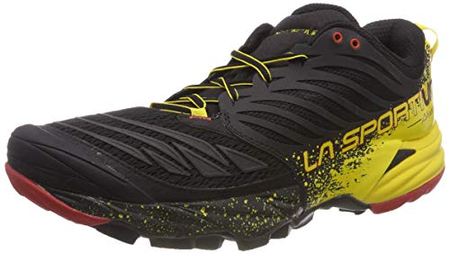 La Sportiva Akasha Trail Running Calzado para Hombre, Multicolor (Red/Black/Yellow), 42 EU