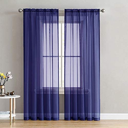 SecretBay Sheer Window Curtain Panels New products, world's highest quality popular! Pocket Sol NEW before selling ☆ Rod ,Voile
