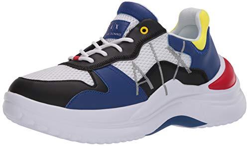 A X Armani Exchange High Colorful Side Logo Lace Up Sneaker, Zapatillas Deportivas. Hombre, Multicolor, 43 EU
