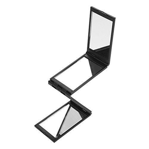 Quadra-Fold Haarfärbespiegel, 360 Grad faltbares Make-up Selfie Spiegel Multifunktionales tragbares Werkzeug ohne toten Winkel zum Schneiden, Stylen und Pflegen von Haaren
