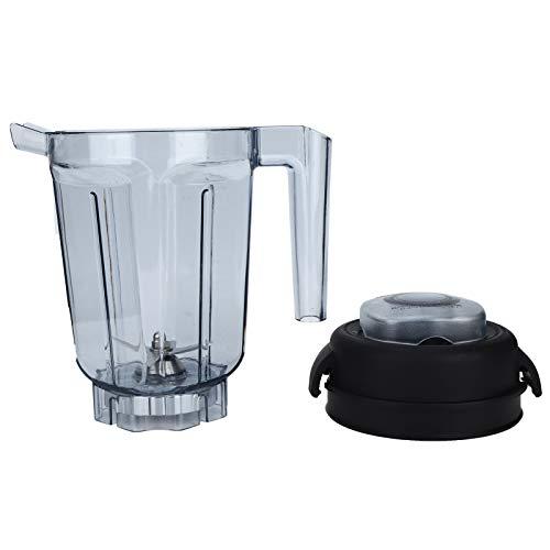 Comida Licuadora Recipiente con Tapa de Hoja, Licuadora Transparente/Procesador de Alimentos, Accesorios de Repuesto para Licuadora de Encimera Profesional para Recipiente Vitamix de 32oz