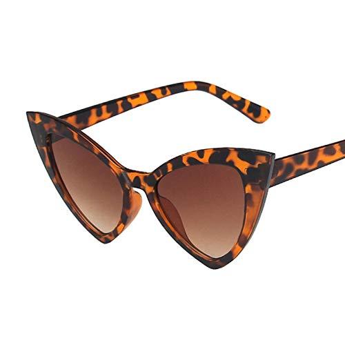 NJJX Gafas De Sol De Ojo De Gato Para Mujer, Montura De Ojo De Gato Retro Vintage, Gafas Rojas Para Mujer, Gafas De Sol C4Leopard