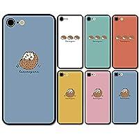 スマホケース ラウンド ガラス ハリネズミ 動物 06:スモーキーブルー iphone11