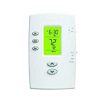 Honeywell TH2210DV1006 PRO 2000 Vertical 5+2 Day Programmable Heat Pump Thermostat - Backlit 2H/1C Dual Powered