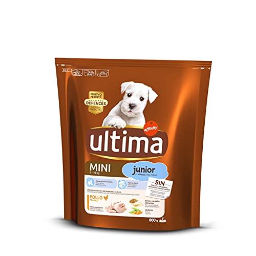 ultima Pienso para Perros Mini Junior con Pollo - 800 gr