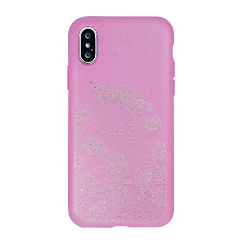 FOREVER Hülle Kompatibel mit iPhone X/XS, Schutzhülle aus Biologisch Abbaubar Materialien, Bio Case Anti-Kratz, Stoßfestes Bumper, Umweltfreundliche Handyhülle, Rückseite Cover (Ozean)
