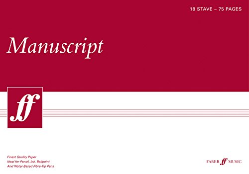 75-page A3 Manuscript Pad, 18-stave: (white Pad)