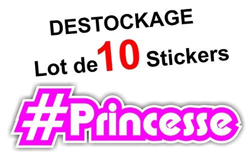 Sticker Hashtag #Princesse - Autocollant Humour Cadeau