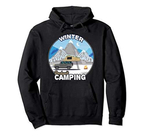 Winter Camping mit Dachzelt - Camper Geschenk Dachzelten Pullover Hoodie