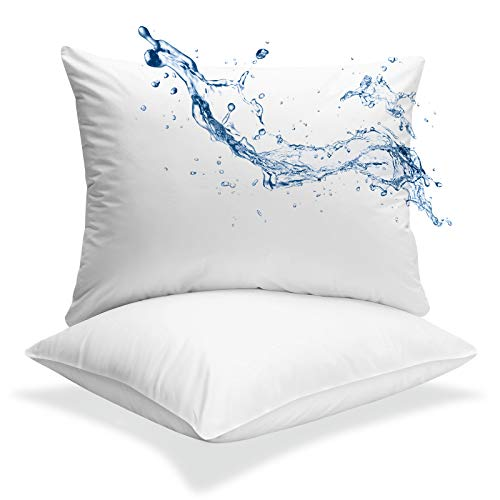 Sweet Forest 2 Standard Size 100% Waterproof Cotton Pillow...