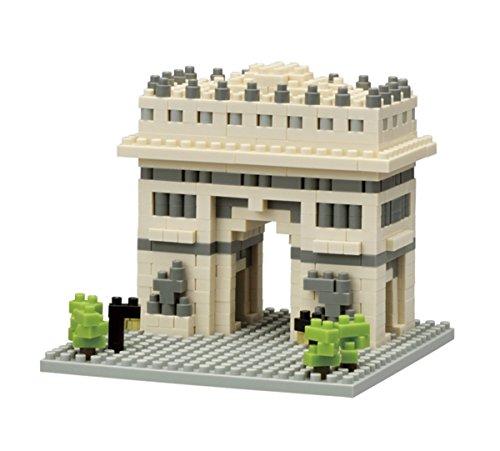 nanoblock NBH-075 - Arc de Triomphe / Triumphbogen, Minibaustein 3D-Puzzle, Sights to See Serie, 495 Teile, Schwierigkeitsstufe 2, mittel