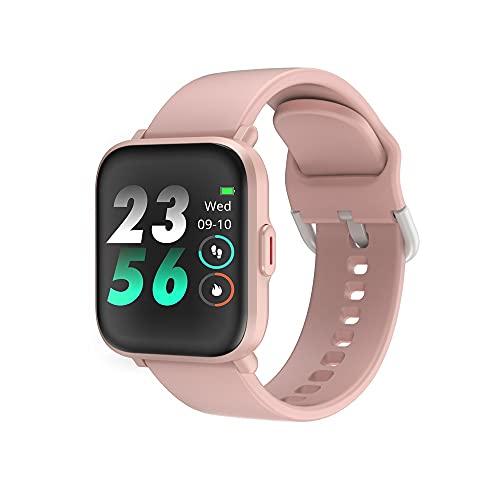 huanglianglanshangmao Reloj de monitoreo de Paso de frecuencia cardíaco Inteligente, Ejercicio de Control de música multifunción, recordatorio de información de Bluetooth (Color : 1)