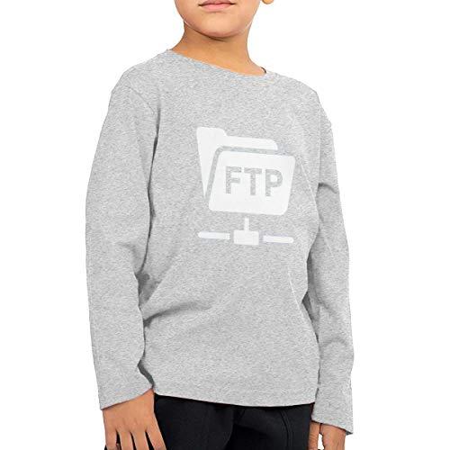QingH Blog - FTP Hesabı Children's Boys Cotton Long Sleeve T Shirts Gray