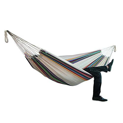 Hamaca de jardín hamaca dos personas hamaca camping espesar silla columpio al aire libre colgante cama lona mecedora no con soporte hamaca 200*150 cm