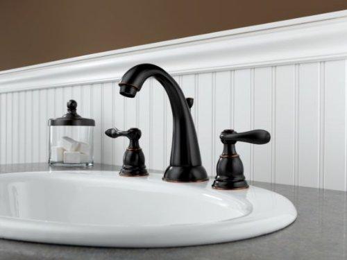 Delta Faucet Windemere Widespread Bathroom Faucet Oil Rubbed Bronze, Bathroom Faucet 3...