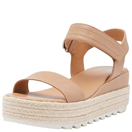 Sorel Women's Cameron Flatform Sandal - Honest Beige - Size 6