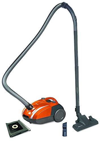 Koblenz Canister Vacuum Cleaner- Corded, Orange/Gray