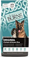 Burns Pet Nutrition Hypoallergenic Complete Dry Dog Food Adult and Senior Dog Original Chicken and Brown Rice 12 kg