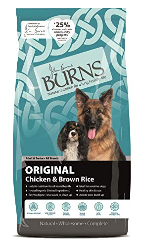 Burns Pet Nutrition Hypoallergenic Complete Dry Dog Food Adult and Senior Dog Original Chicken and...