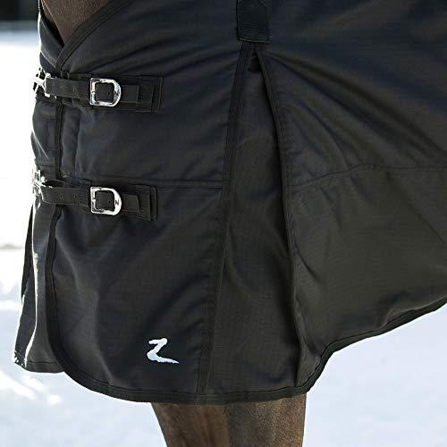 Horze Nevada 1200D Waterproof Turnout Sheet - Black - Size: 75