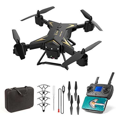 RC Drone Quadcopter Kits, Fdrone KY601G GPS Drone with 4K HD Camera 5G WiFi FPV RC Quadcopter Foldable Drone (Black)