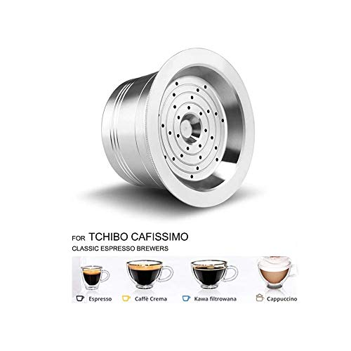 I Cafilas Refillable Coffee Capsule Stainless Steel Reusable Refill Capsules Coffee Filters Compataible Compatible For Tchibo Cafissimo Classic Espresso Coffee Capsules Capsule In Silver Buy Online In Aruba At Aruba Desertcart Com Productid