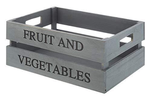 Premier Housewares Caisse à Fruits et légumes, Gris, Bois de Paulownia, contreplaqué,