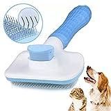 spazzola per cani gatto, accessori animali, spazzola cane autopulente rimuovi pelo lungo e corto, spazzole tosatrice leva peli