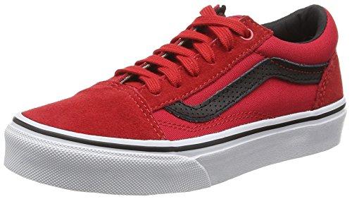 Vans Unisex-Kinder Old Skool Low-Top, Rot (C&P Racing red/Black), 27.5 EU