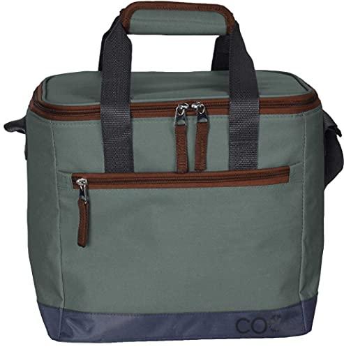 made2trade Nevera portátil para viajes y excursiones, de poliéster, con correa para el hombro, 5 litros, color verde
