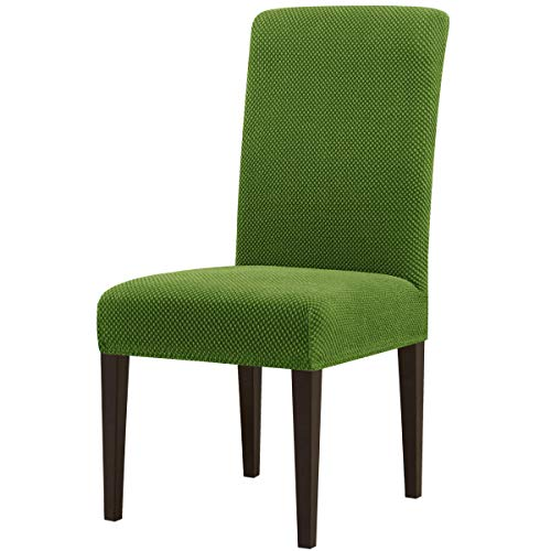 Mejor subrtex Printed Slipcovers Stretch Removable Washable 4 Pieces Elastic Parsons Chair Seat Covers for Dining Room Kitchen Green, 4 crítica 2020