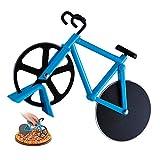 Cortador De Pizza,Forma De Bicicleta,Rueda De Cortador De Pizza De Acero Inoxidable Con Revestimiento Antiadherente Y Soporte,Perfecto Para Fiestas De CumpleañOs De NiñOs Y Fiestas De Pizza(Azul)