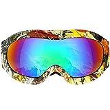 VELLAA Skibrille für Kinder, Ski Snowboard Brille Brillenträger Schneebrille Snowboardbrille Verspiegelt für Jungen Mädchen Junior Alter 3 4 5 6 7 8 9 10 11 12 13 14 15 Jahre OTG UV Schutz Anti Fog