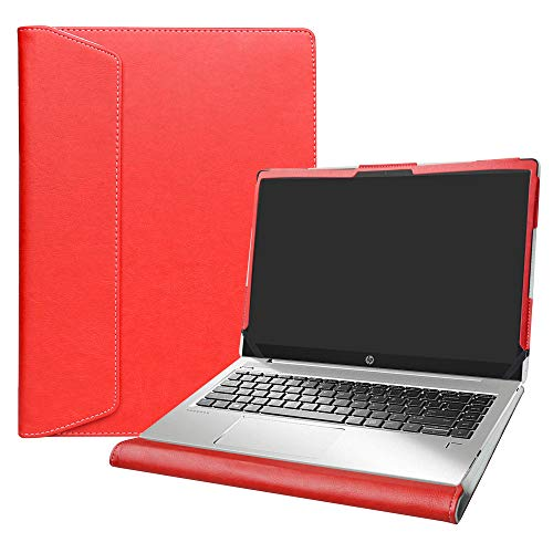"Alapmk Diseñado Especialmente La Funda Protectora de Cuero de PU para 15.6"" HP Notebook 15 DWxxx DUxxx Ordenador portátil(Not fit HP Notebook 15 15-daXXX/15-dbXXX/15-bsXXX/15-bwXXX),Rojo"