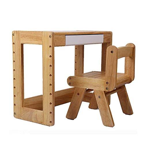 N/Z Tägliche Ausrüstung Tische Stühle Set Tischplatte Höhenverstellbare Aufbewahrungsbox Aktivität Schreibtisch Kindergarten Holz Multifunktionsmöbel Holzfarbe