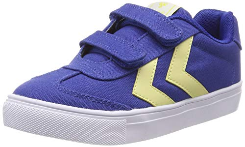 Hummel Unisex-Kinder Hop Jr Sneaker Niedrig, Blau (Nebulas Blue 7010), 34 EU