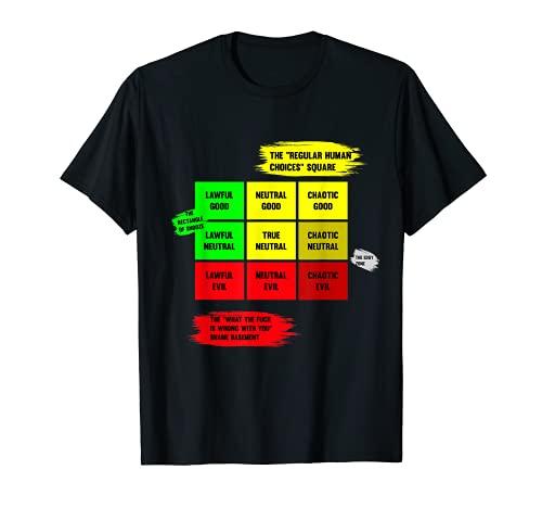 Tabla de alineación Jugador de mesa RPG Jugador de rol TTRPG Camiseta