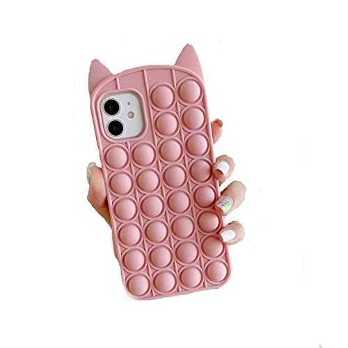 Grace Pop It Fidget Case for iPhone 12 Pro (6.1 inch), Sensory Toy Figit Toy for Kids Push Pop Bubble Games for Autistic Children Puzzle Game for Adult Anxiety Stress