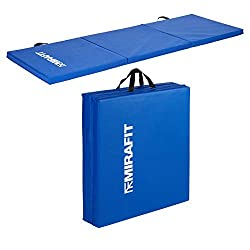 Mirafit 6ft Folding Exercise Mat - Available in black, blue, orange, green or pink 40mm thick high density sponge padding for extra comfort Ideal for all aspects of fitness, physio & rehab etc Tri-fold design - Easy to store & transport - Built in ca...