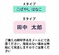 ネームラベル 介護用布シール 50枚セット (Bタイプ, 緑)