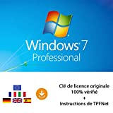 MS Windows 7 Pro 32 Bits & 64 Bits - Clé de Licence Originale par Postale et E-Mail + Instructions de TPFNet - Livraison Maximum...
